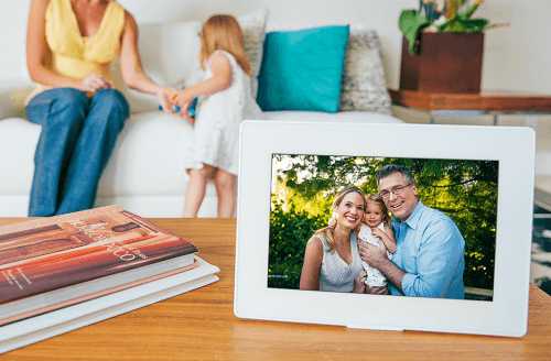 Family Picture In Digital Photo Frame
